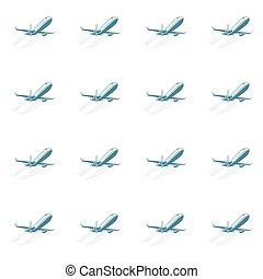aviation seamless pattern