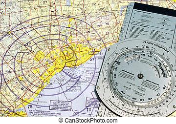 Aviation Toronto - Aviation navigational chart of Toronto...