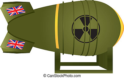 Aviation UK atomic bomb thermonuclear strike. Vector...