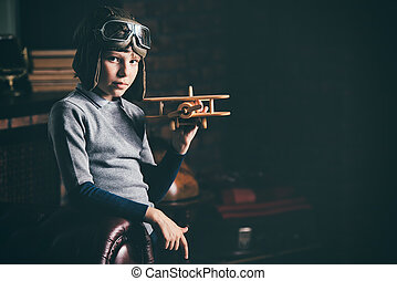 aviator and traveler - A boy dreams of becoming a great...