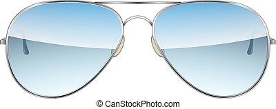 Aviator Glasses isolated on a white background Vector...