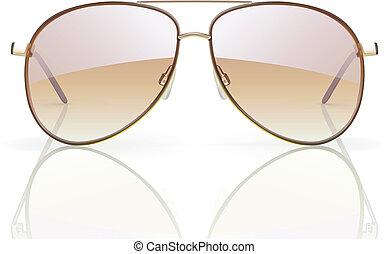 aviator sunglasses - Vector illustration of stylish aviator...