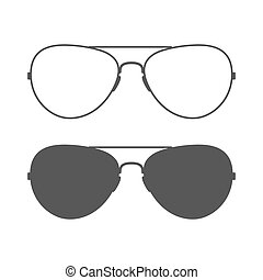 Aviator sunglasses icon - Aviator sunglasses. Sunglasses...