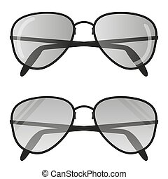 Aviator sunglasses icon . Pilot glasses Flat design Vector illustration