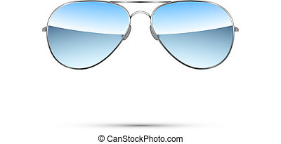 Aviator sunglasses isolated on white. Vector illustration
