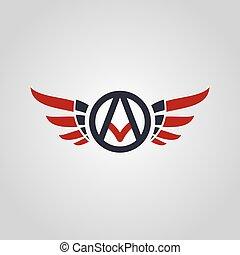 aviator symbol logo logotype theme vector illustration