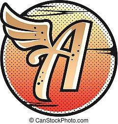 aviator wing sign symbol vector