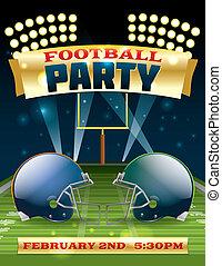 aviatore, football, americano, festa