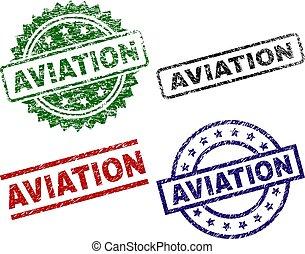 aviazione, francobolli, textured, grunge, sigillo
