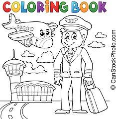 aviazione, libro colorante