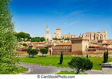 avignon, öreg város, alatt, provence, franciaország