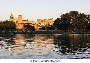 Avignon in France - Old Town in Avignon in France