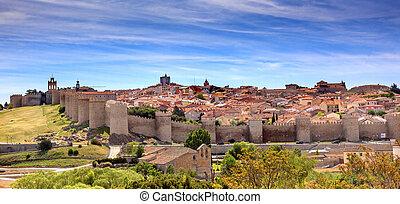 Avila Castle Walls Ancient Medieval City Cityscape Castile ...
