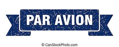avion, 印。, グランジ, バンド, パー, ribbon., 旗