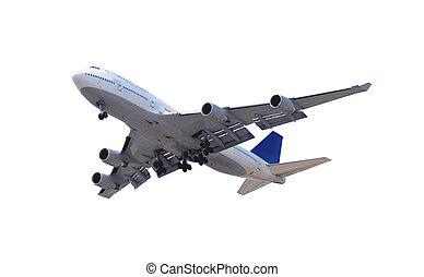avion, blanc
