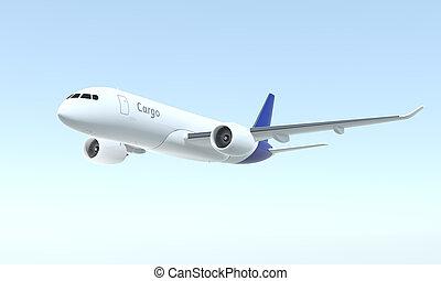 avion cargaison, voler, dans, les, ciel