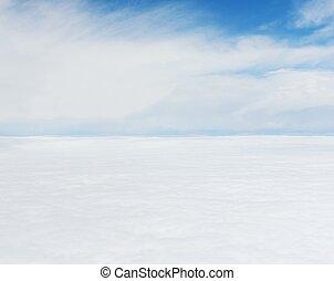 avion, ciel, au-dessus, vue