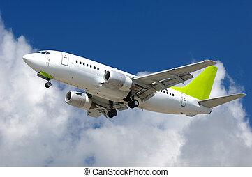 avion, commercial, jet