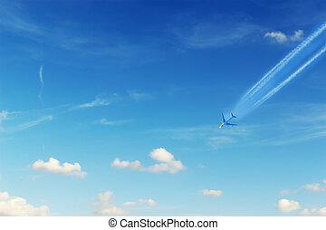 avion, contrails