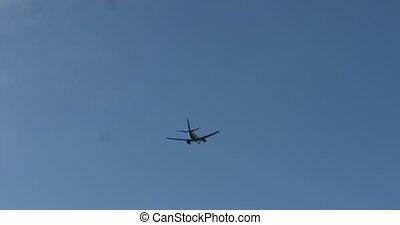 avion, copie, vol, espace