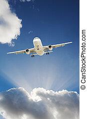 avion, dans, les, ciel
