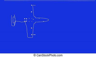 avion, dessin, jet