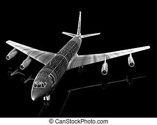 avion, ensemble, une