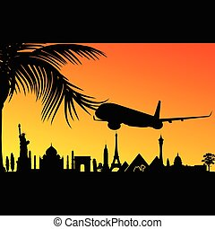 avion, historique, illustration, monument