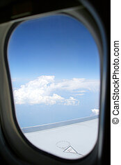 avion, hublot