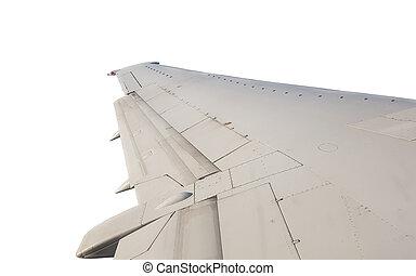 avion, isolé, aile