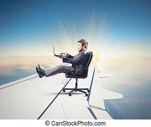 avion, jeûne, internet