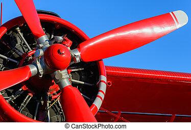 avion, lame, rouges