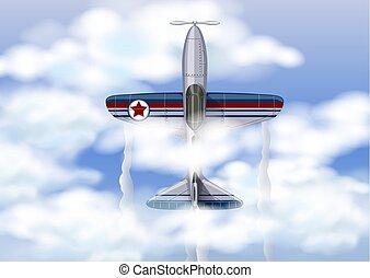 avion militaire, ciel, thr