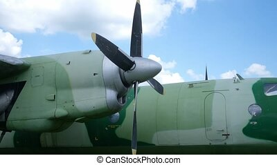 avion militaire, exposition, vieux