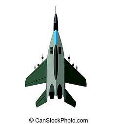 avion militaire, vue dessus