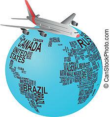 avion, mondiale
