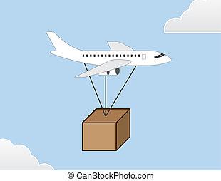 avion, paquet