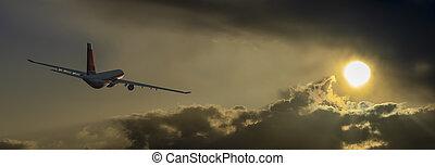 avion, passager