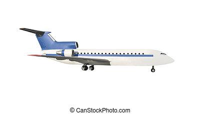 avion passager, isolé
