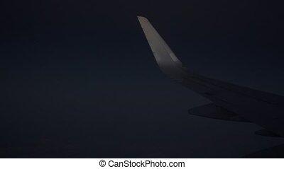 avion passager, vol, grand, nuit