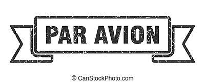 avion, ribbon., 印。, バンド, パー, グランジ, 旗