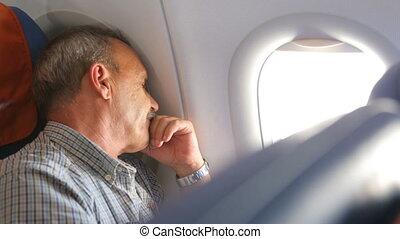 avion, sommeil homme
