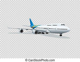 avion, transparent, fond