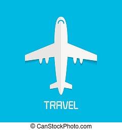 avion, vecteur, clipart, illustration