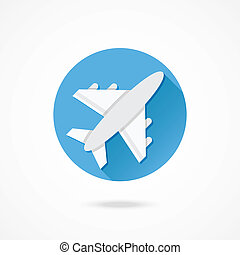 avion, vecteur, icône