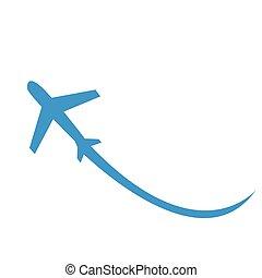 avion, vecteur, illustration, icône