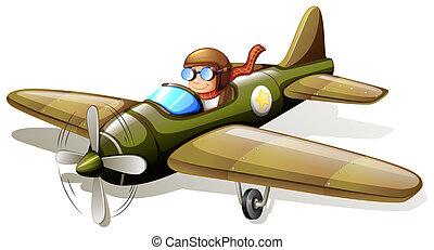 avion, vendange, pilote