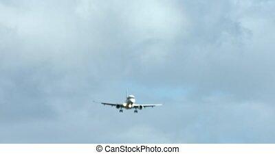 avion, voler, blured