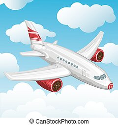 avion, voler, sky.