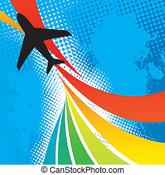 avion, voyage, résumé